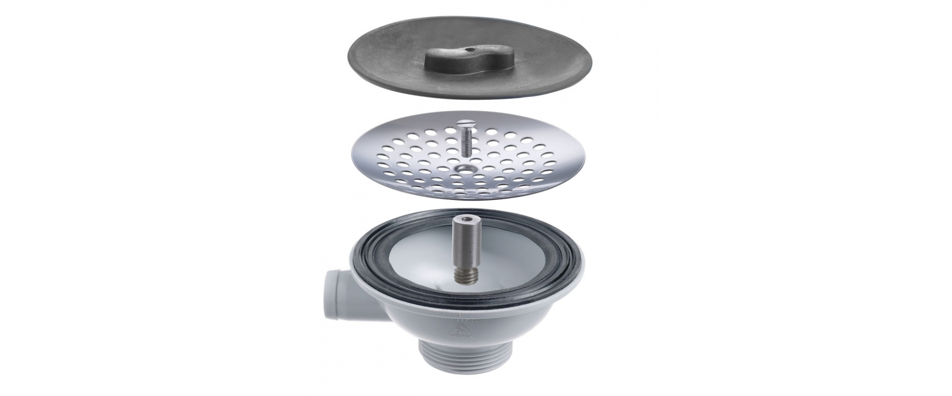 Strainer package for sinks