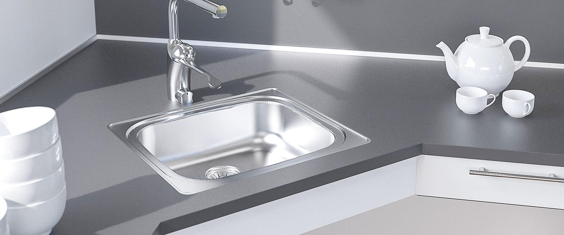 Inset Kitchen Sink ES10 - 44.1 cm