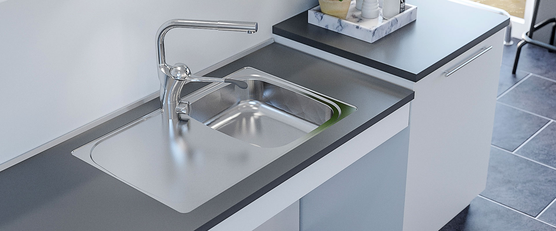Inset Kitchen Sink ES15- 76.6 cm