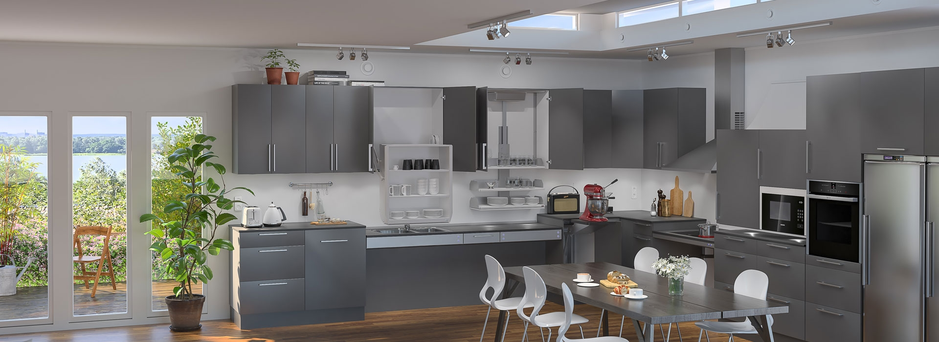 <h2>Height Adjustable Kitchen Systems</h2>